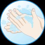 Alaposan mosson kezet, ne használjon kézfertőtlenítőt